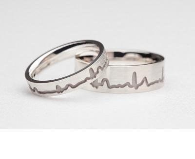 Trouwringen met hartslag 19 trouwringen Trouwringen met hartslag ringen