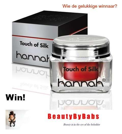 Winnaar hannah Touch of Silk bekend! 23 touch of silk Winnaar hannah Touch of Silk bekend! huidcoach
