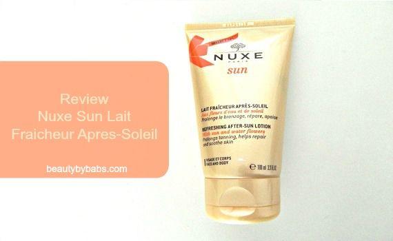 Nuxe Sun Lait Fraicheur Apres-Soleil - Review 1 après soleil Nuxe Sun Lait Fraicheur Apres-Soleil - Review