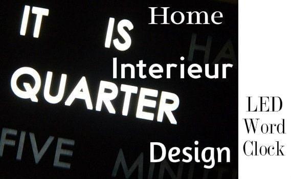 Design Word Clock met LED verlichting 9 verlichting Design Word Clock met LED verlichting