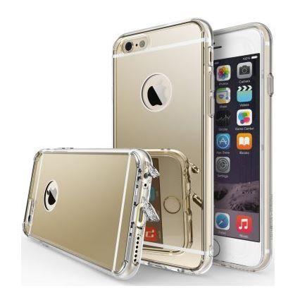 Ringke Fusion Mirror Apple iPhone 6S spiegel hoesje Royal Gold
