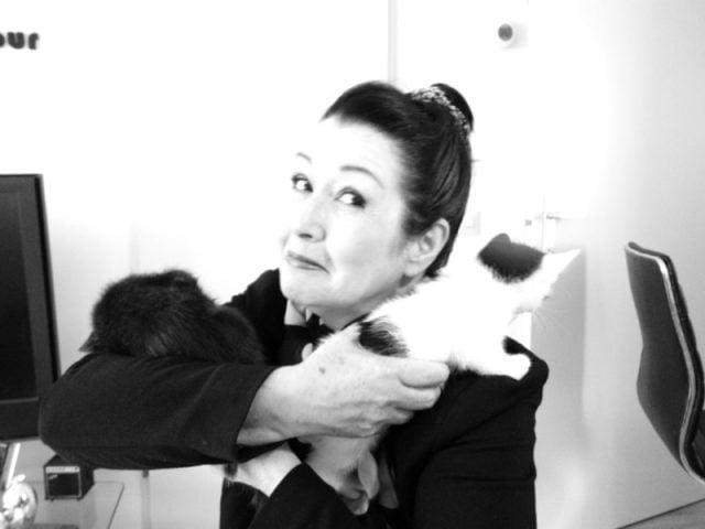 poseren met de kittens