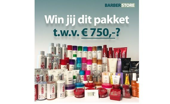 Win voor €750 aan haarproducten bij de Barberstore! 1 win Win voor €750 aan haarproducten bij de Barberstore!
