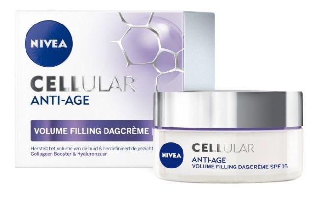 NIVEA CELLular Anti-Age Volume Filling Pearls en Dagcrème SPF15.