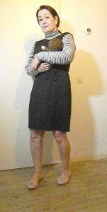 zwart jurk met coltrui