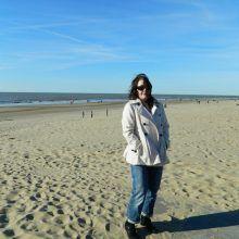 ik op het strand