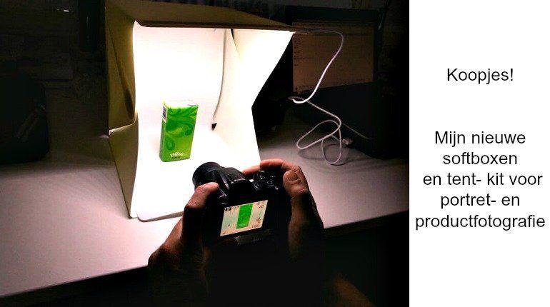 Mijn belichting/ softboxen voor product- en portret fotografie!