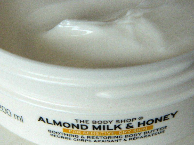 body cream almond honey the body shop
