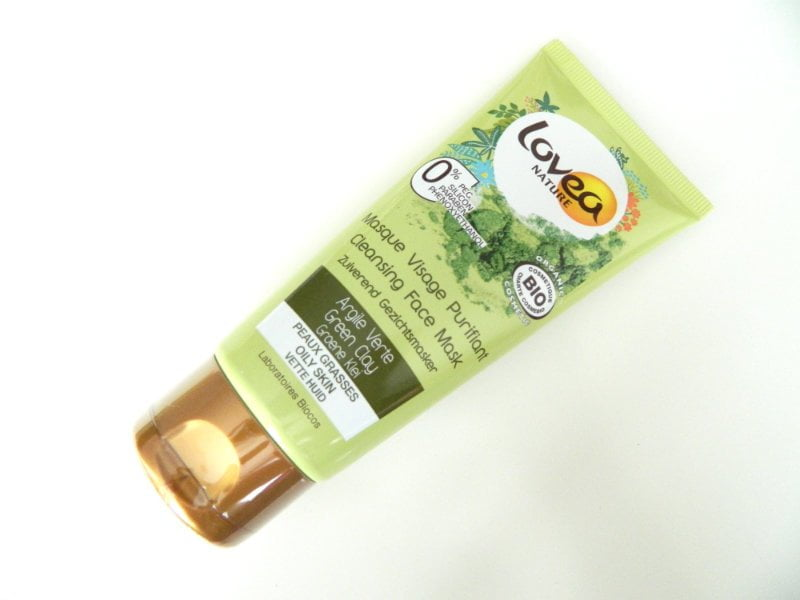 green clay masker lovea tube