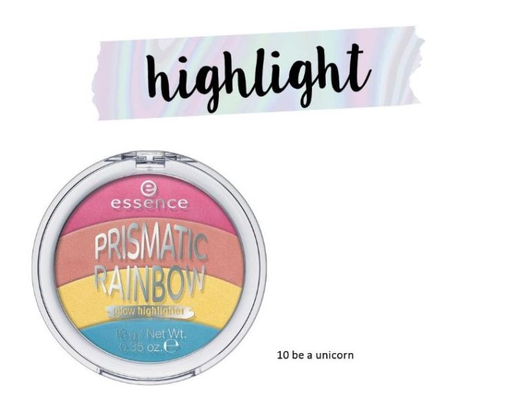 prismatic rainbow glow highlighter