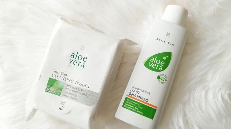 aloe vera shampoo en cleansing tissues