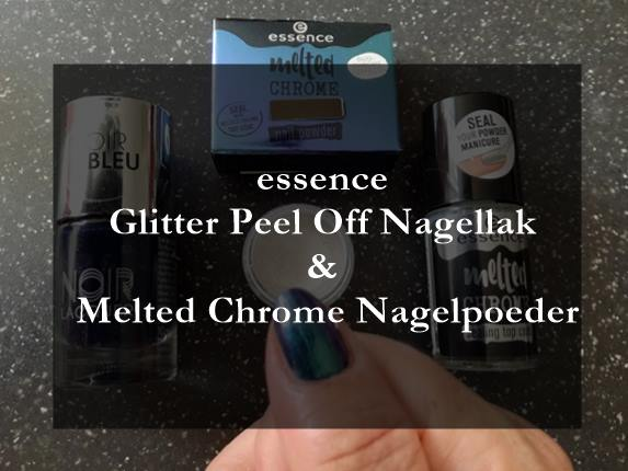essence Glitter Peel Off Nagellak en Melted Chrome Nagelpoeder