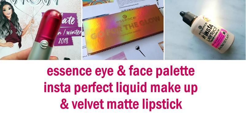 essence Eye & Face Palette, Insta perfect liquid make up & velvet matte lipstick- Review 1 essence eye essence Eye & Face Palette, Insta perfect liquid make up & velvet matte lipstick- Review